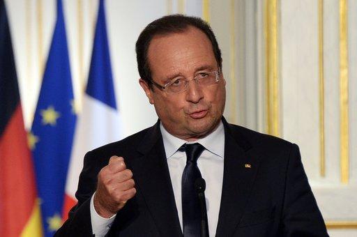 هولاند: فرنسا لن تتدخل في سورية بمفردها