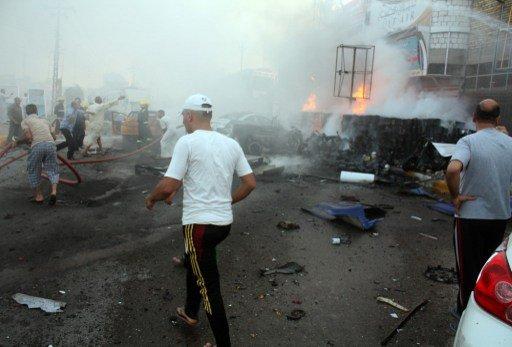 مقتل 60 شخصا وجرح عشرات الآخرين في سلسلة انفجارات في بغداد