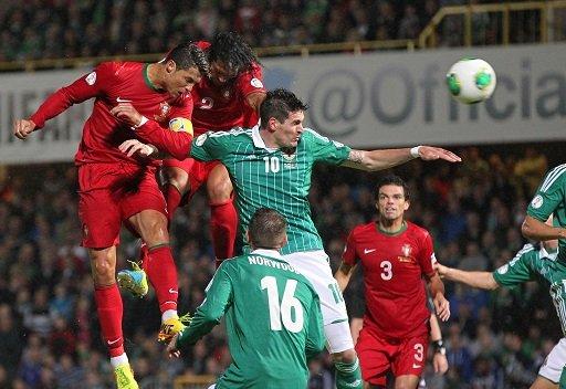 رونالدو ينقذ البرتغال من كمين ايرلندا الشمالية