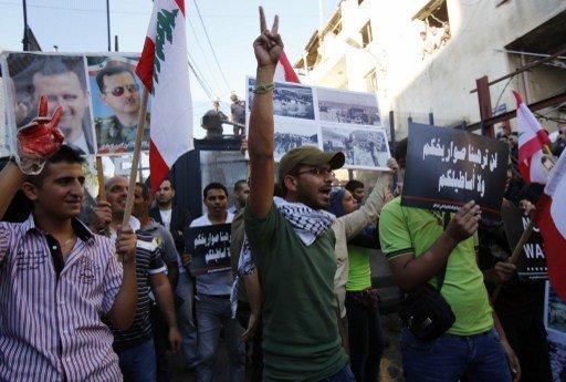احتجاجات أمام السفارة الأمريكية في بيروت