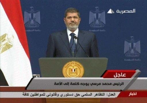حبس مرسي 4 أيام على ذمة التحقيق بتهمة الاعتداء على السلطة القضائية