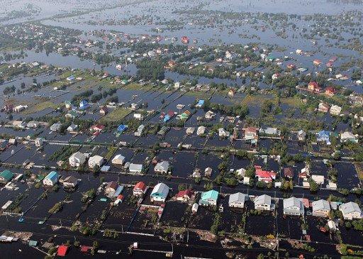 350 بلدة وقرية تتعرض للفيضان في أقصى شرق روسيا