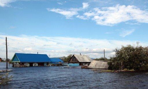 الفيضانات تغمر 578 منزلا في كومسومولسك على أمور في الشرق الأقصى الروسي