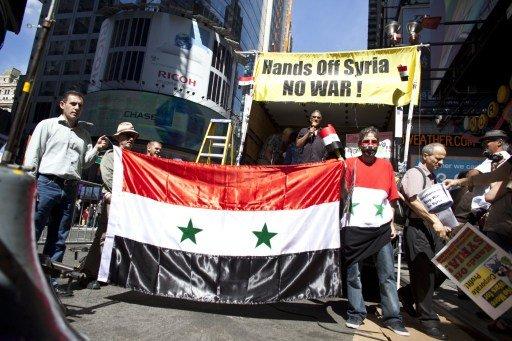 مظاهرات معارضة للتدخل العسكري في سورية في كبرى مدن الولايات المتحدة