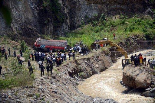 مصرع 43 شخصا في حادث انقلاب حافلة غربي غواتيمالا