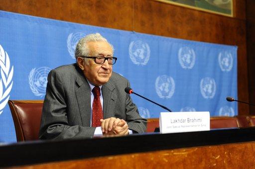 الامم المتحدة: الابراهيمي مستعد للقاء لافروف وكيري لبحث سبل تسوية الأزمة السورية