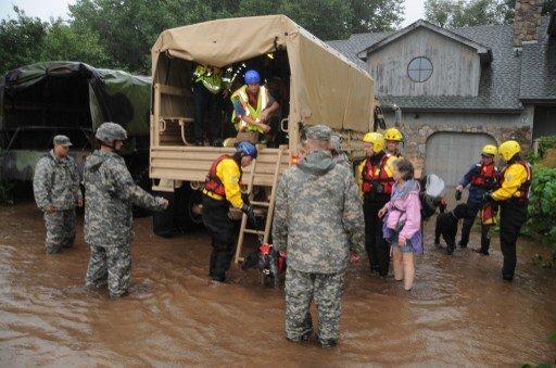 مصرع 4 وإجلاء 4 آلاف شخص جرّاء الفيضانات بكولورادو الأمريكية