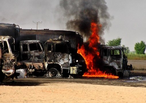 تدمير 9 صهاريج وقود على الأقل في حريق جنوب غربي باكستان