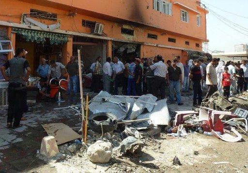 مقتل 8 وإصابة 23 آخرين بانفجار عبوة ناسفة في سوق شعبية بقضاء أبو غريب شمال بغداد