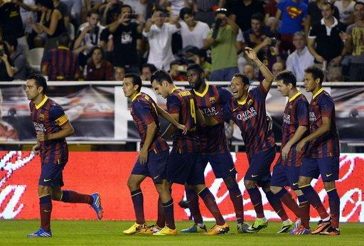 رودريغيز يقود برشلونة لفوز كاسح على فاليكانو