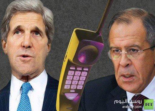 لافروف وكيري يبحثان هاتفيا تنفيذ الخطة بشأن الكيميائي في سورية
