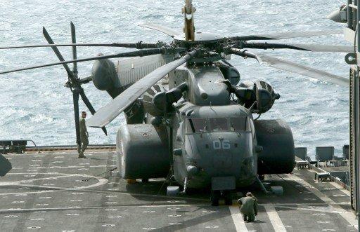البحرية الأميركية تؤكد سقوط مروحية تابعة لها في البحر الاحمر
