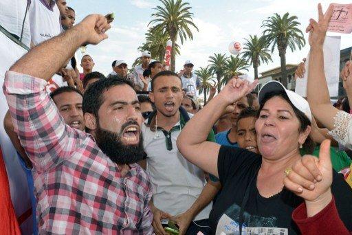 مظاهرات في الرباط احتجاجا على غلاء المعيشة وارتفاع أسعار الوقود