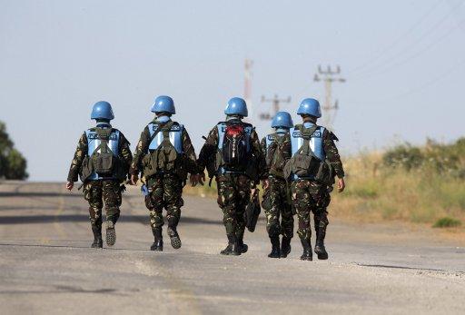 الأمم المتحدة على علم بالتقارير عن استخدام المسلحين السوريين رموز قوات حفظ السلام في الجولان للتمويه