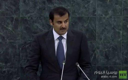 أمير قطر: لم يثر الشعب السوري لكي توضع الأسلحة الكيميائية تحت الرقابة الدولية