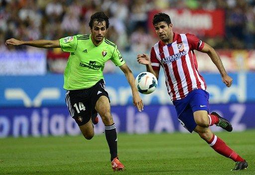 اتلتيكو مدريد يهزم أوساسونا بثنائية دييغو