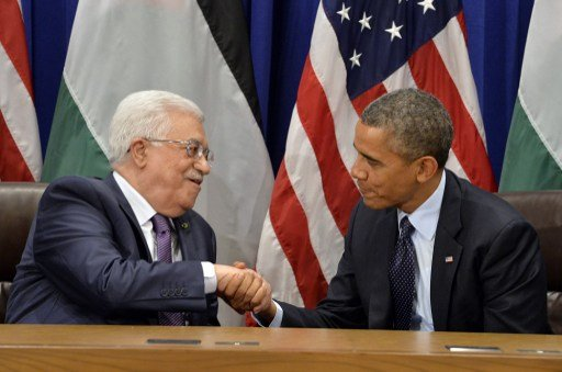 خلال لقائه أوباما عباس يؤكد على المضي بعملية السلام لإقامة دولة فلسطينية مستقلة