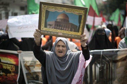 غزة.. مظاهرة لنصرة القدس والأقصى وتنديداً بالانتهاكات الإسرائيلية
