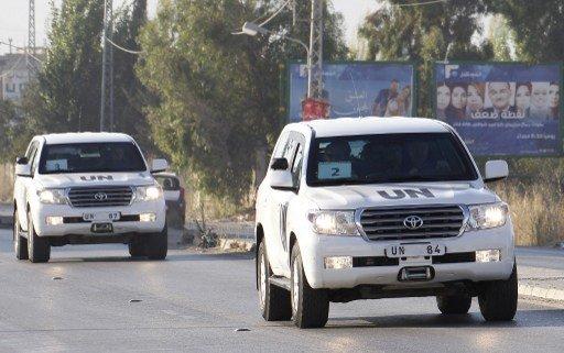 بعد وصولهم الى دمشق.. خبراء الكيميائي يزورون مكانا مجهولا