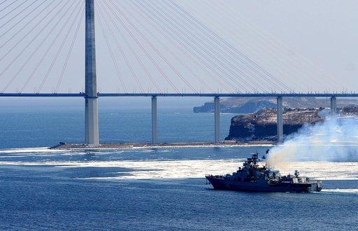سفينتا انزال تنضمان الى مجموعة السفن الروسية في البحر المتوسط