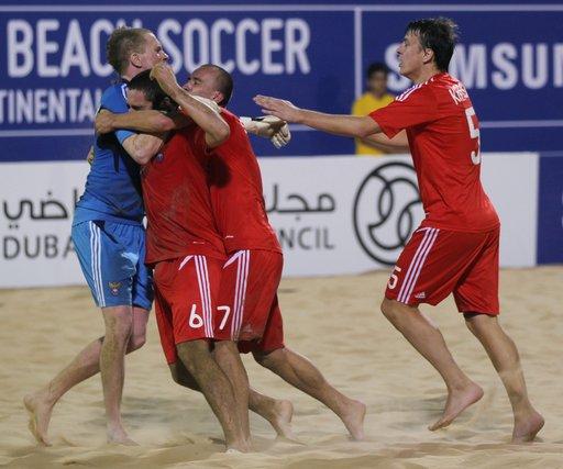 روسيا تبلغ المربع الذهبي لبطولة العالم في كرة القدم الشاطئية