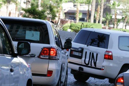 خبراء الكيميائي يغادرون فندقهم في دمشق الى جهة مجهولة
