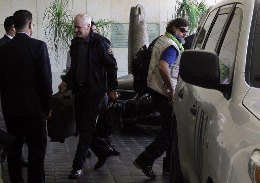 الأمم المتحدة: من المتوقع ان ينهي مفتشو الكيميائي السوري عملهم يوم الأثنين القادم