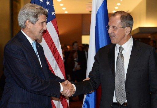 كيري يشكر لافروف للتعاون الذي أبداه في الملف السوري