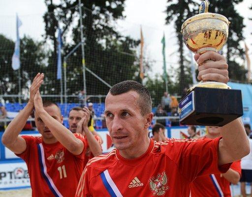 روسيا تفوز بكأس العالم في كرة القدم الشاطئية