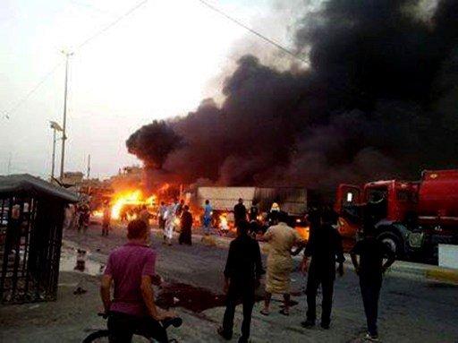 عشرات القتلى والجرحى بسلسلة تفجيرات بمناطق متفرقة من بغداد