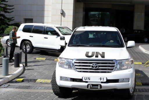 مفتشو الأمم المتحدة يغادرون دمشق بعد إنهاء مهمتهم