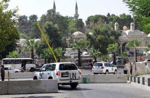 الأمم المتحدة: خبراء نزع السلاح الكيميائي سيباشرون عملهم في سورية يوم الثلاثاء