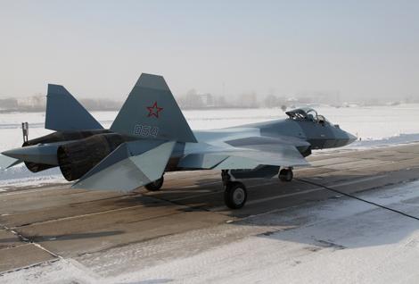 """اختبار نموذج تجريبي خامس لمقاتلة """"تي – 50"""" الروسية من الجيل الخامس  662885"""