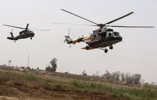 4 قتلى في سقوط مروحية للجيش العراقي بنيران مسلحين