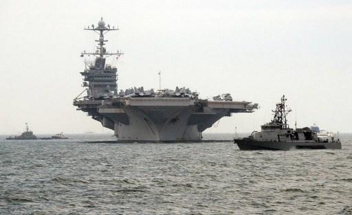 حاملة طائرات أمريكية تصل الى ميناء كوري جنوبي