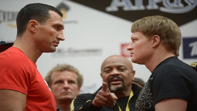 الملاكمة .. بطل العالم كليتشكو ومتحديه بوفيتكين وجها لوجه