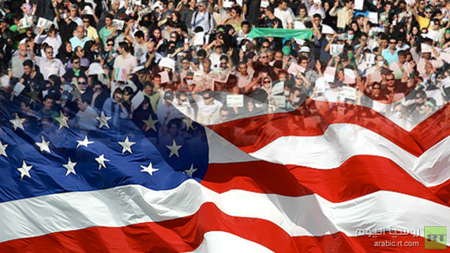 مظاهرات في طهران احتجاجا على تصريحات أوباما الداعية إلى استمرار العقوبات على إيران