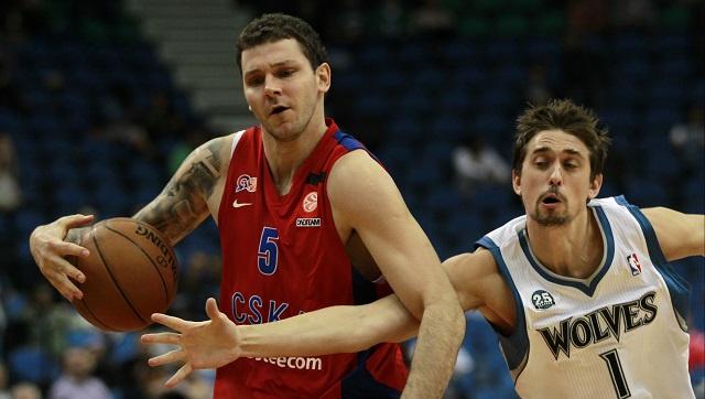 تسيسكا موسكو يهزم فريق الرابطة الأمريكية للمحترفين بكرة السلة مينيسوتا ودياً