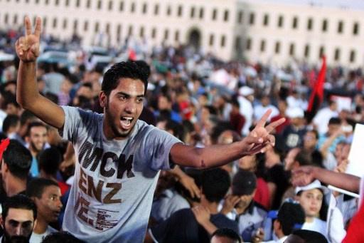تظاهرات في بنغازي ضد التقسيم والاغتيالات