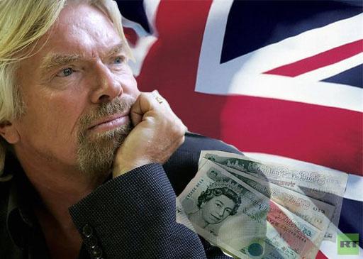 الملياردير البريطاني ريتشارد برانسون يغادر وطنه