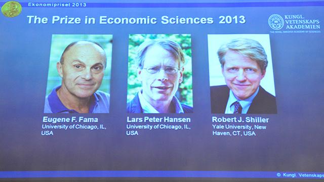جائزة نوبل للاقتصاد 2013 من نصيب 3 علماء أمريكيين