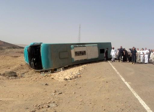 مقتل 5 أشخاص في حادث انقلاب حافلة في شرم الشيخ