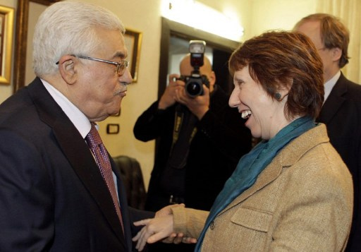 عباس يبحث مع آشتون سير المفاوضات الفلسطينية ـ الاسرائيلية
