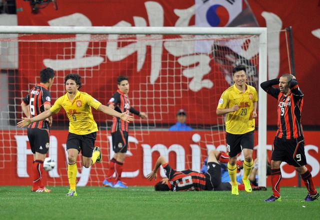 غوانغ جو الصيني يقترب من لقب دوري أبطال آسيا