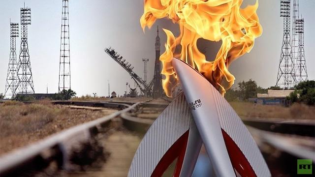 شعلة النار الأولمبية تصل إلى