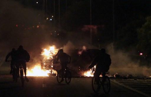 احتجاز 90 متظاهرا بعد احتجاجات عنيفة في البرازيل