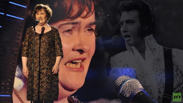سوزان بويل تسجل أغنية مع إلفيس برسلي وتؤكد وجوده معها في الاستوديو