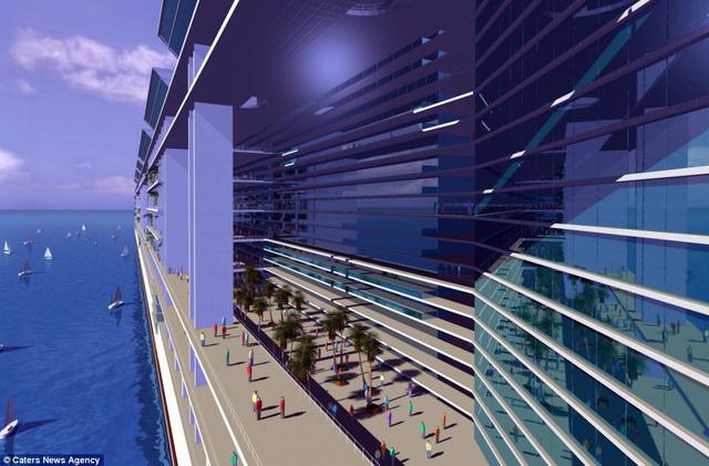 بالصور..البدء بناء أكبر مدينة عائمة