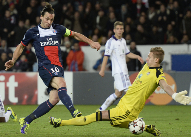 باريس سان جيرمان ينجو من الهزيمة أمام أندرلخت بهدف إبراهيموفيتش