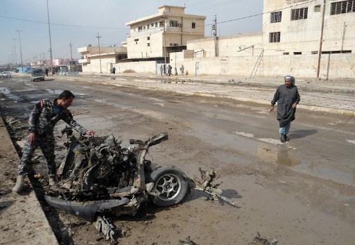 قتلى وجرحى في هجوم انتحاري على مركز شرطة بديالى العراقية